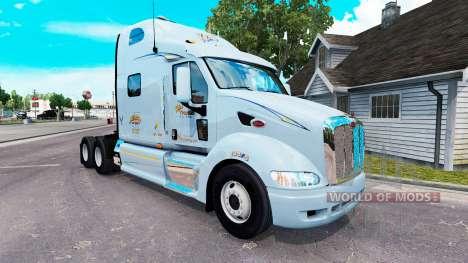 Mercer de la piel para el camión Peterbilt 387 para American Truck Simulator