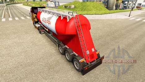 La piel Nara cemento semi-remolque para Euro Truck Simulator 2