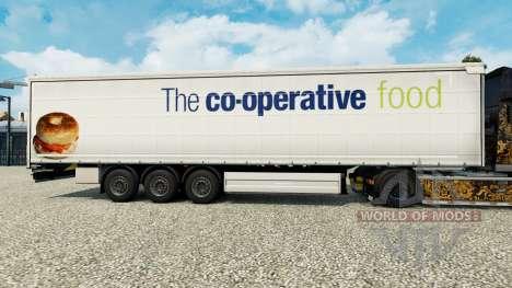 La piel de La cooperativa de alimentos en una co para Euro Truck Simulator 2