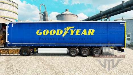 La piel Buen Año para remolques para Euro Truck Simulator 2