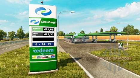 Nuevos colores para el gas de la estación de v0. para Euro Truck Simulator 2