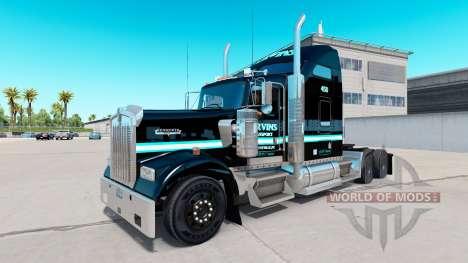La piel Ervins el Transporte en camión Kenworth  para American Truck Simulator
