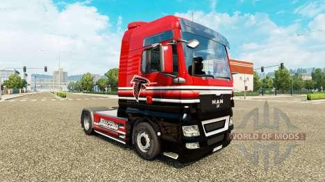 La piel de la NFC Sur para el tractor HOMBRE para Euro Truck Simulator 2