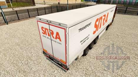 Sitra la piel para la cortina semi-remolque para Euro Truck Simulator 2