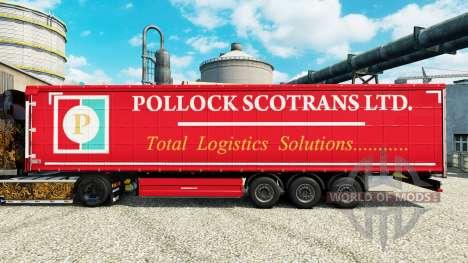 La Piel Pollock Scotrans Ltd. en la semi para Euro Truck Simulator 2