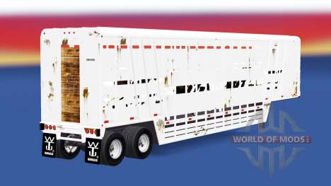 Semirremolque-ganado portador de Wilson para American Truck Simulator