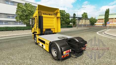 La piel de color Amarillo Diablo en el camión Iv para Euro Truck Simulator 2