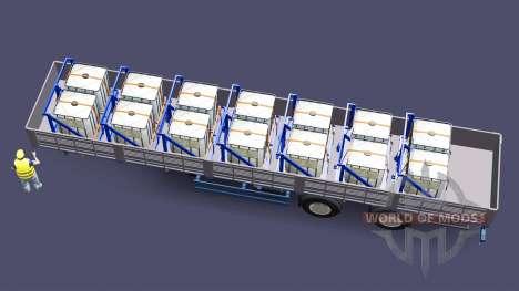 Plataforma semi remolque con una carga de sulfat para Euro Truck Simulator 2
