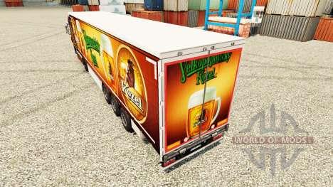 La piel Velkopopovicky Kozel para remolques para Euro Truck Simulator 2