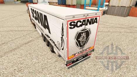 Blanco de la piel del Scania de Piezas de Camion para Euro Truck Simulator 2
