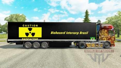 La piel de riesgo Biológico Intercorp Brasil en  para Euro Truck Simulator 2