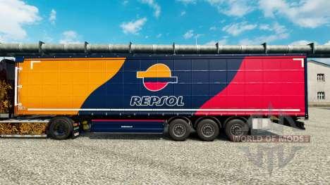 La piel de Repsol para remolques para Euro Truck Simulator 2
