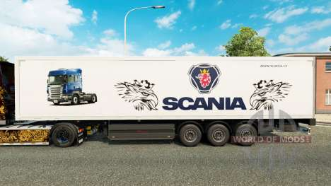 La piel de Scania para remolques para Euro Truck Simulator 2