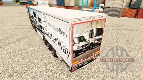 La piel de Mercedes-Benz de la Carta de la Maner para Euro Truck Simulator 2