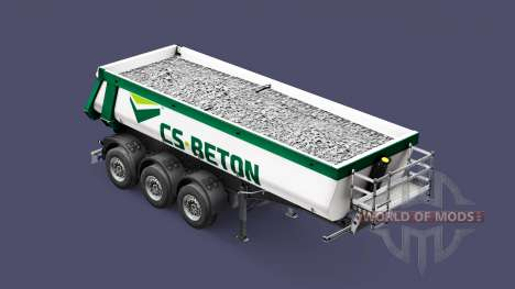 Semi-remolque tipper Schmitz Cargobull CS-HORMIG para Euro Truck Simulator 2