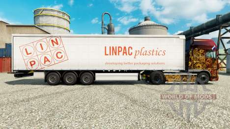 La piel Linpac Plastics para remolques para Euro Truck Simulator 2