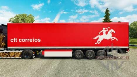 Skin CTT Correios de Portugal S. A en línea trai para Euro Truck Simulator 2