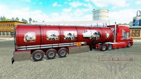 La piel Scania Historia de la química semi-remol para Euro Truck Simulator 2