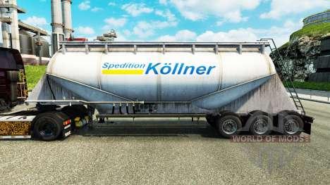 La piel Spedition Kollner cemento semi-remolque para Euro Truck Simulator 2