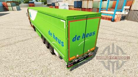 La piel De Heus para remolques para Euro Truck Simulator 2