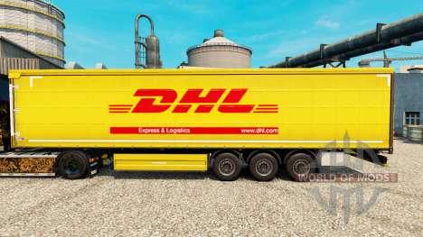 La piel de DHL para remolques para Euro Truck Simulator 2