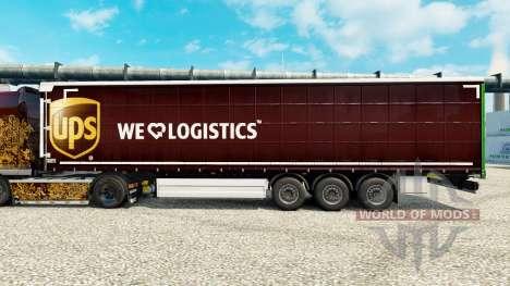 La piel UPS Inc. en la semi para Euro Truck Simulator 2