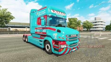 La piel Yates & Sons para camión Scania T para Euro Truck Simulator 2