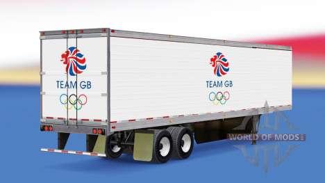 La piel de Equipo GB en refrigerada semi-remolqu para American Truck Simulator