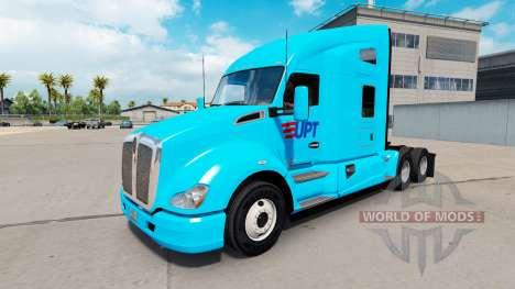 De la piel de TPU en el tractor Kenworth T680 para American Truck Simulator