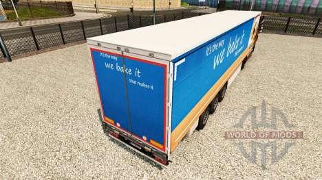 La piel Greggs en una cortina semi-remolque para Euro Truck Simulator 2