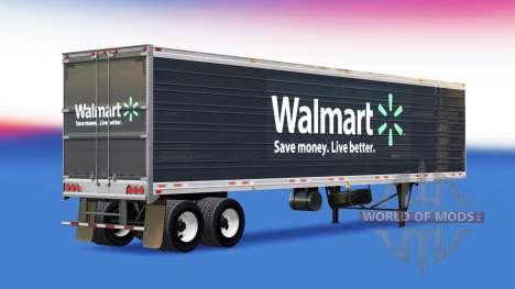La piel de Walmart en el remolque para American Truck Simulator