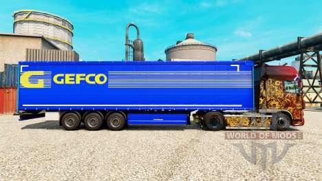 Gefco de la piel para remolques para Euro Truck Simulator 2