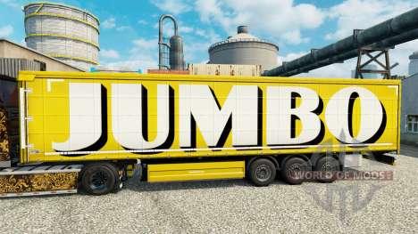 La piel en Jumbo remolques para Euro Truck Simulator 2