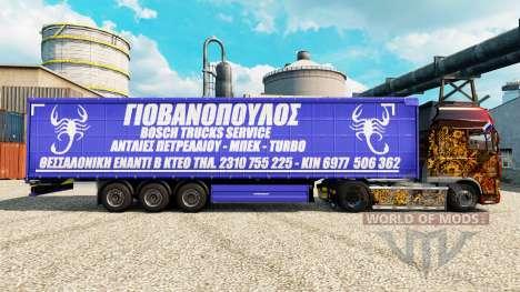 La piel Bosch Servicio de Camiones, a los remolq para Euro Truck Simulator 2