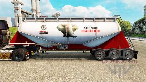 La piel del PPC, Ltd. cemento semi-remolque para Euro Truck Simulator 2