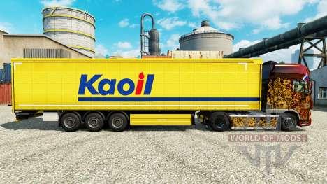 La piel Kaoil para remolques para Euro Truck Simulator 2