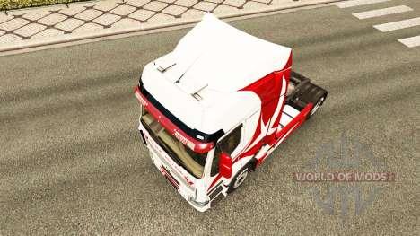 La piel Metálica para tractor Renault para Euro Truck Simulator 2