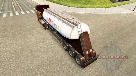 La piel AfriSam cemento semi-remolque para Euro Truck Simulator 2
