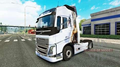 La piel Drache v1.1 tractor Volvo para Euro Truck Simulator 2