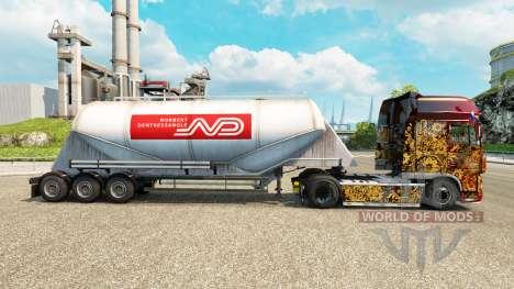 La piel Norbert cemento semi-remolque para Euro Truck Simulator 2