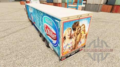 Nestle Scholler de la piel para remolques para Euro Truck Simulator 2