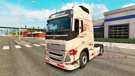 Piel sangrienta para camiones Volvo para Euro Truck Simulator 2