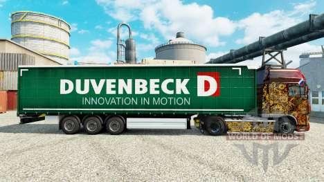 Duvenbeck de la piel para remolques para Euro Truck Simulator 2