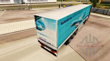 La piel Korean Air para remolques para Euro Truck Simulator 2