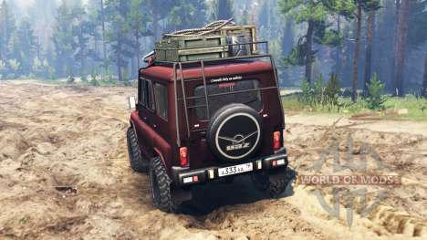 UAZ-315195 turbo diesel para Spin Tires