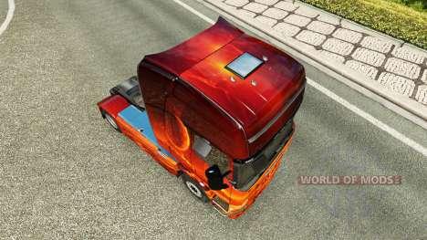 La piel de Espacio en el tractor Scania para Euro Truck Simulator 2