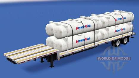 Baja barrido con la construcción de las cargas d para American Truck Simulator