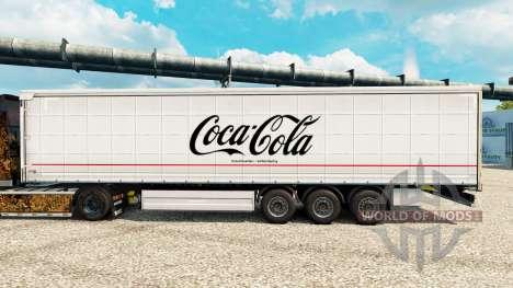 La piel de Coca-Cola semi para Euro Truck Simulator 2