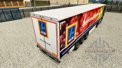 La piel Aldi Entregado Fresco en una cortina sem para Euro Truck Simulator 2