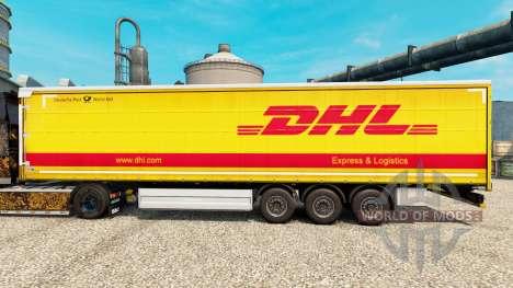 La piel de DHL para v2 semi para Euro Truck Simulator 2